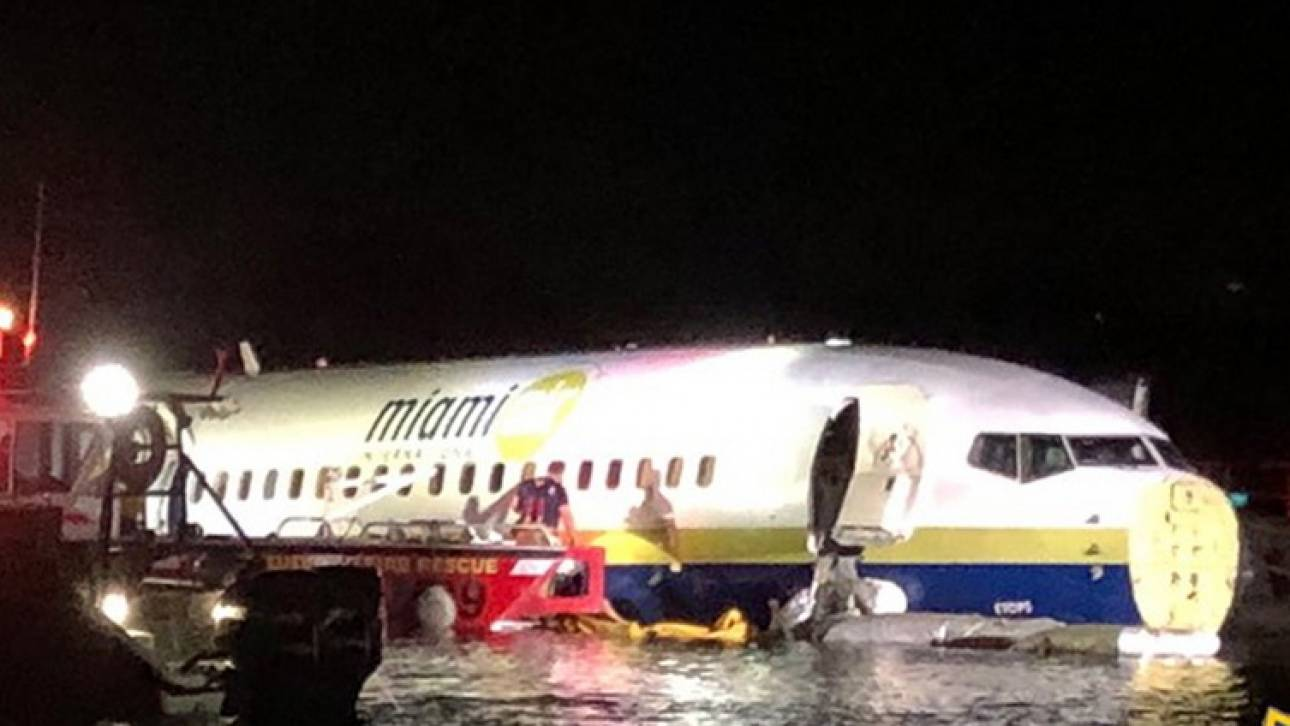 Παραλίγο τραγωδία στη Φλόριντα: Boeing βγήκε από το διάδρομο προσγείωσης και κατέληξε σε ποτάμι