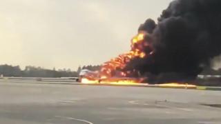 Βίντεο-σοκ από το εσωτερικό του φλεγόμενου αεροσκάφους στη Ρωσία