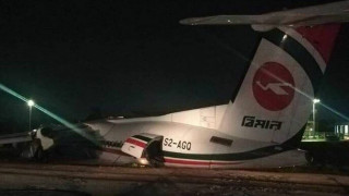 Εικόνες που κόβουν την ανάσα: Αεροσκάφος κόπηκε στα τρία κατά την προσγείωση