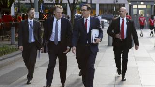 Εμπορικός πόλεμος: Ολοκληρώθηκε η πρώτη μέρα των διαπραγματεύσεων μεταξύ ΗΠΑ και Κίνας