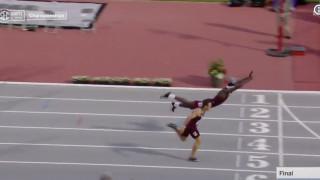 ΗΠΑ: «Βούτηξε» στην γραμμή του τερματισμού και «έκλεψε» το χρυσό μετάλλιο