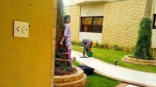 Εικόνες ντροπής: Πλούσιοι Σαουδάραβες έδεσαν οικιακή βοηθό σε δέντρο επειδή ξέχασε έπιπλο στον κήπο