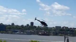 Νέα Υόρκη: Ελικόπτερο έπεσε στον ποταμό Χάντσον – Σώος ο πιλότος