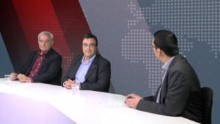 Αντιλογίες: Θανάσης Τζίμας και Νίκος Χουντής στο στούντιο του CNN Greece