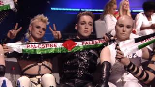 Eurovision 2019: Η Ισλανδία πανηγύρισε με σημαίες της Παλαιστίνης