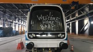 «Καλωσόρισαν» το μετρό της Θεσσαλονίκης με... γκράφιτι