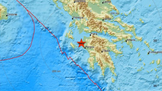 Σεισμός στην Ηλεία - Σεισμική δόνηση κοντά στην Κυλλήνη