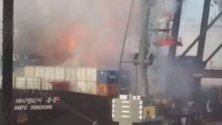 Φωτιά σε φορτίο πλοίου στην Ταϊλάνδη - Στο νοσοκομείο 130 άτομα