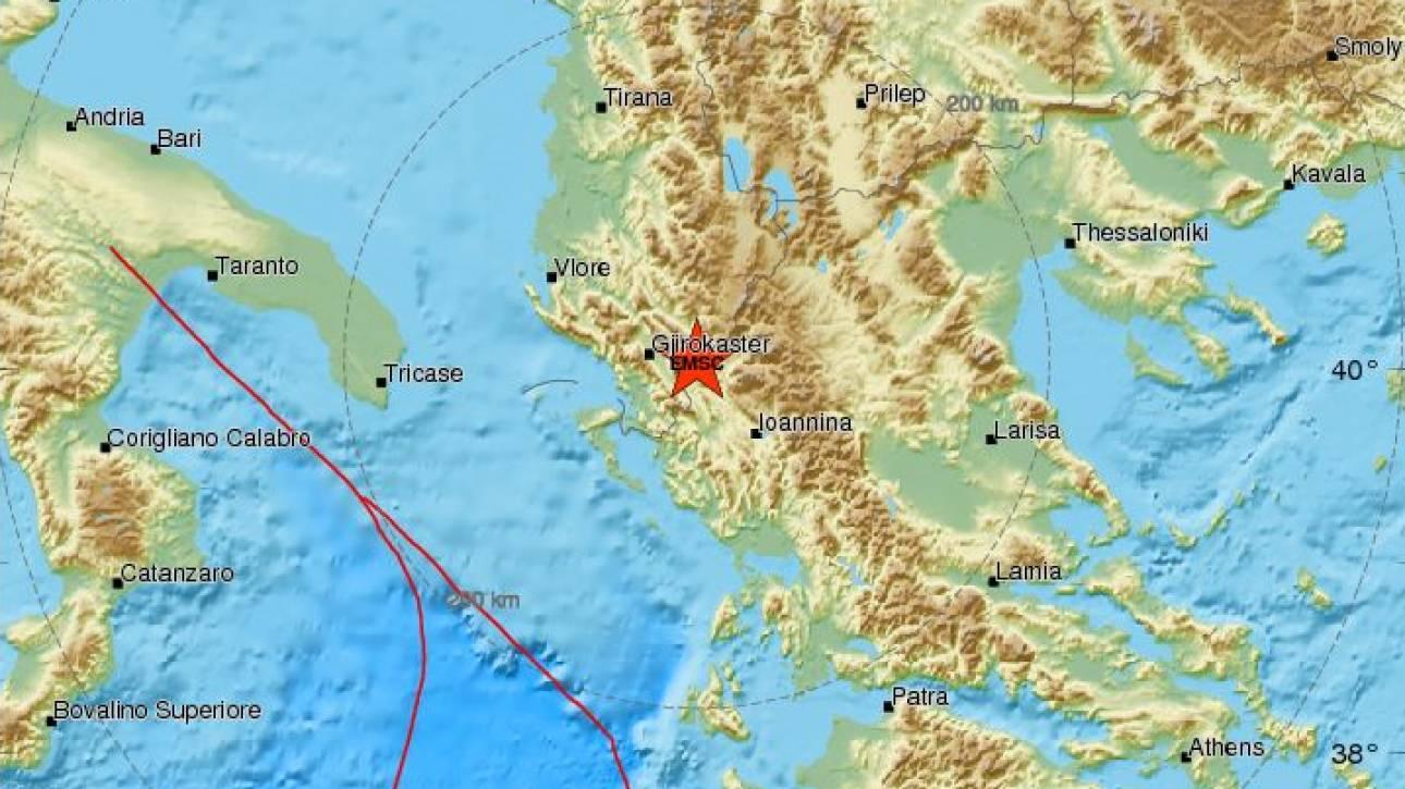 Σεισμός κοντά στην Κόνιτσα - Αισθητός σε αρκετές περιοχές