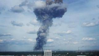 Ρωσία: Ισχυρές εκρήξεις σε εργοστάσιο παραγωγής εκρηκτικών