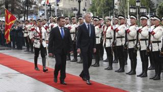 Μήνυμα Στόλτενμπεργκ σε Βόρεια Μακεδονία: Είμαστε έτοιμοι να σας καλωσορίσουμε στο ΝΑΤΟ