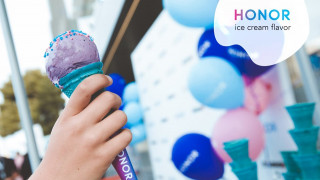Η HONOR το πρώτο Smartphone με το δικό του παγωτό!