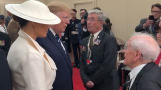 Απίστευτος βετεράνος ετών 93 έκανε καμάκι στη Μελάνια - Η αντίδραση του Τραμπ