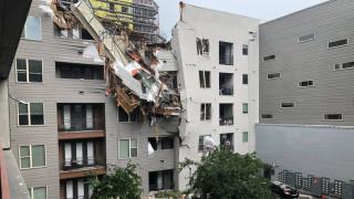 Τρόμος στο Ντάλας: Γερανός έπεσε σε πολυκατοικία - Ένας νεκρός και έξι τραυματίες