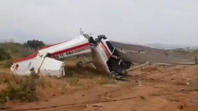 Συντριβή εκπαιδευτικού αεροσκάφους στην Αττάλεια - Δύο νεκροί