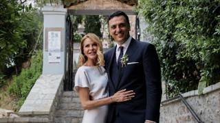 Παντρεύτηκαν Βασίλης Κικίλιας - Τζένη Μπαλατσινού