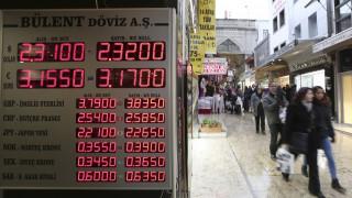 Υποχωρεί η τουρκική λίρα μετά από δημοσίευμα για αμερικανικές κυρώσεις