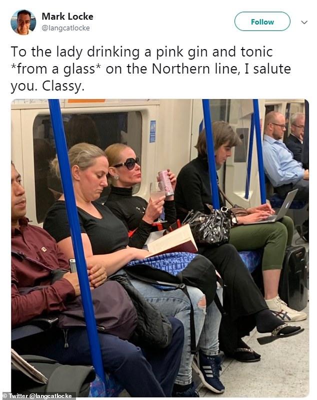 woman drinkin