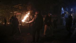 Ένταση και μολότοφ το βράδυ στο κέντρο της Αθήνας