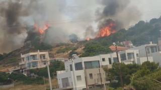 Πυρκαγιά στο Λαγονήσι: Οι πρώτες εικόνες από το σημείο