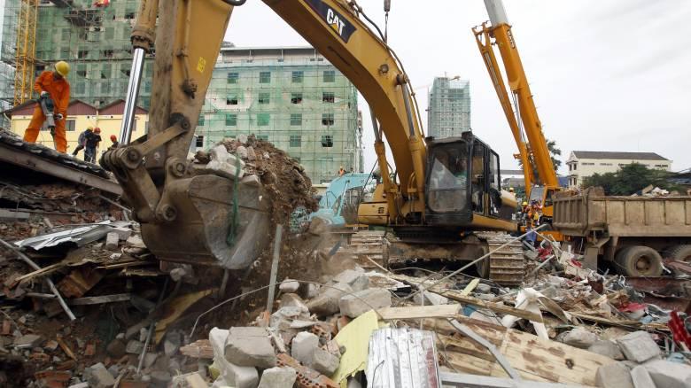Καμπότζη: Επτά νεκροί από κατάρρευση κτηρίου - Φόβοι για παγιδευμένους