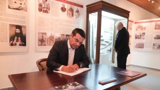 Στα γραφεία του ΑΚΕΛ ο Τσίπρας: Πάντα ζωντανή στον αγώνα των αδικημένων η μνήμη του Χριστόφια (pics)