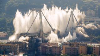 Γένοβα: Κατεδαφίστηκε η γέφυρα Μοράντι όπου έχασαν τη ζωή τους δεκάδες άτομα