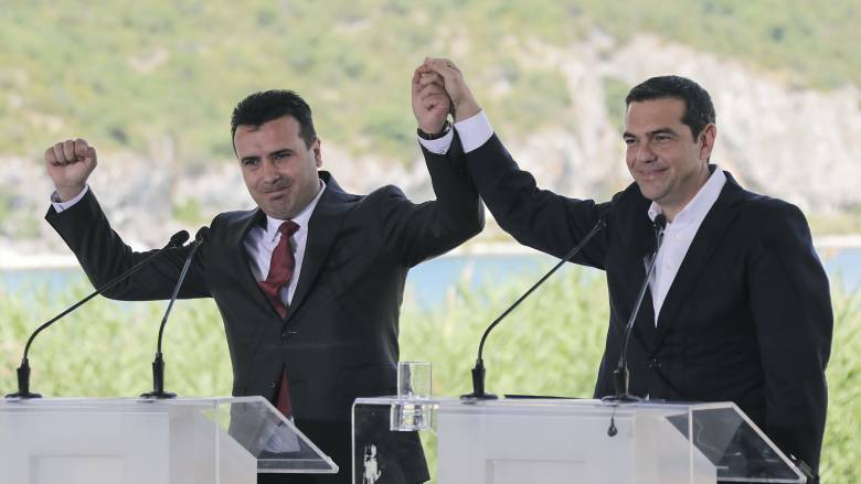 Βραβείο «Αξιοσημείωτου Επιτεύγματος» σε Τσίπρα και Ζάεφ για τη Συμφωνία των Πρεσπών
