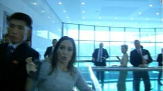 Επεισόδιο μεταξύ της εκπροσώπου του Λευκού Οίκου και Βορειοκορεατών αξιωματούχων