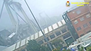 Αδημοσίευτο βίντεο: H στιγμή που καταρρέει η γέφυρα Μοράντι σκοτώνοντας 43 άτομα