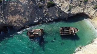 Αμοργός: Εντυπωσιακά πλάνα από το ναυάγιο «Ολυμπία» στην Κάτω Μεριά