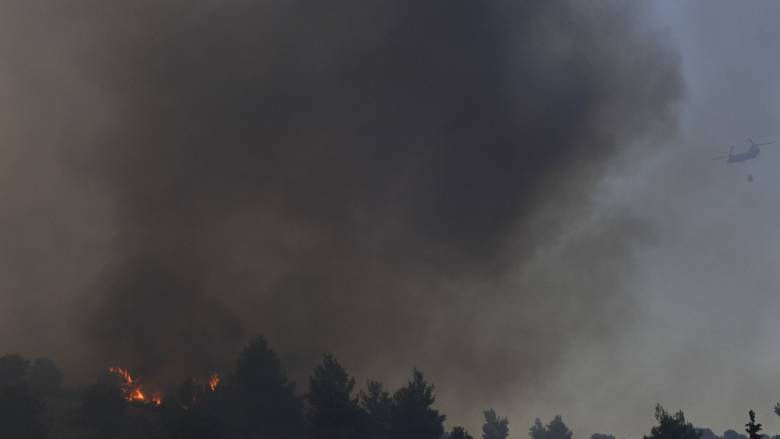Φωτιά: Μεγάλη πυρκαγιά στην Εύβοια