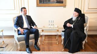 Ο πατριάρχης Βαρθολομαίος συναντήθηκε με το νέο δήμαρχο Κωνσταντινούπολης Ιμάμογλου