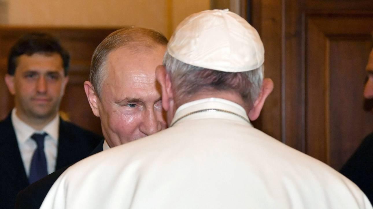 Ουσιαστικές συνομιλίες Πούτιν με Πάπα για την Ουκρανία, τη Συρία, και τη Βενεζουέλα