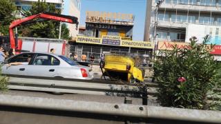 Τροχαίο στον Κηφισό: Ανετράπη ταξί - Κυκλοφοριακή συμφόρηση στην κάθοδο