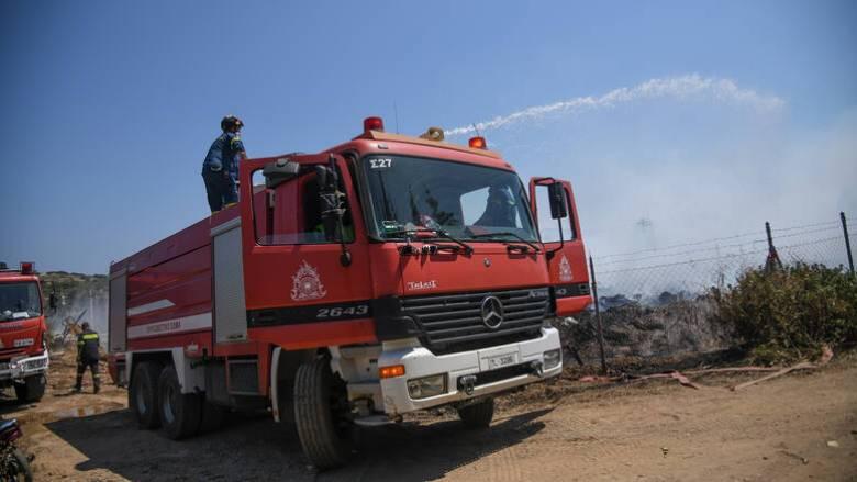 Υπό έλεγχο η φωτιά στη Σταμάτα Αττικής