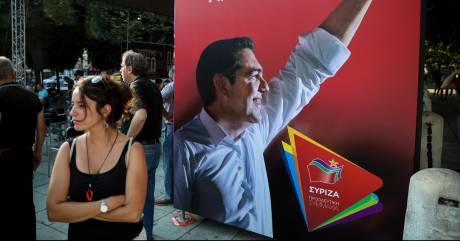 Εικόνες από το εκλογικό κέντρο του ΣΥΡΙΖΑ στην πλατεία Συντάγματος