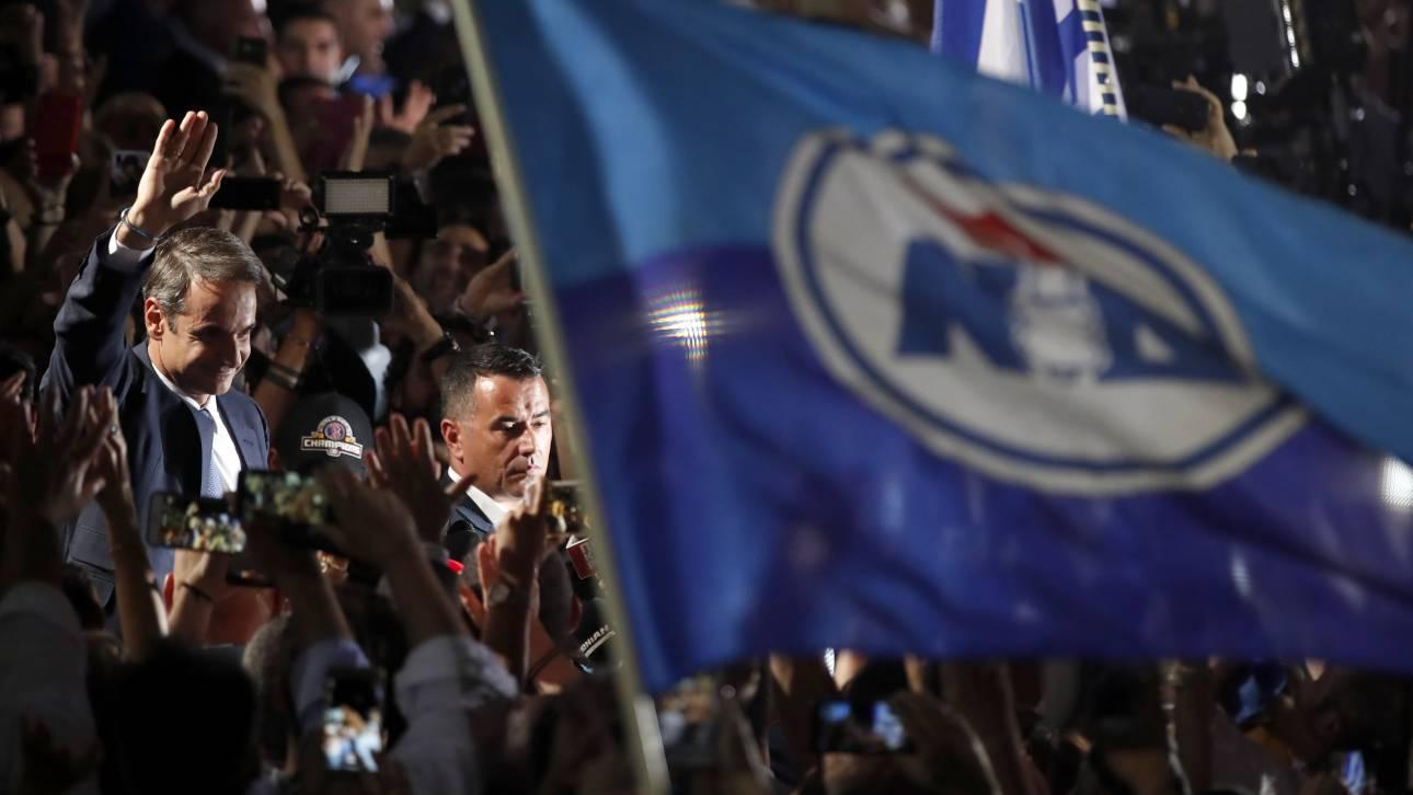 Αποτελέσματα εκλογών 2019: Μεγάλη νίκη με αυτοδυναμία ο Μητσοτάκης – Ποσοστό έκπληξη για Τσίπρα