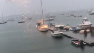 Βίντεο που «κόβει» την ανάσα: Η στιγμή που κεραυνός χτυπά σκάφος
