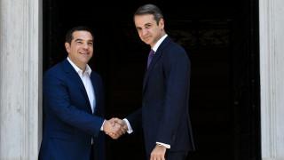 Μέγαρο Μαξίμου: Ο Τσίπρας παρέδωσε τα πρωθυπουργικά καθήκοντα στον Μητσοτάκη