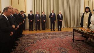 Η ορκωμοσία της νέας κυβέρνησης μέσα από φωτογραφίες