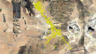 Δύο ισχυροί σεισμοί, χιλιάδες μετασεισμοί: Η σεισμική ακολουθία στην Καλιφόρνια σε ένα animation
