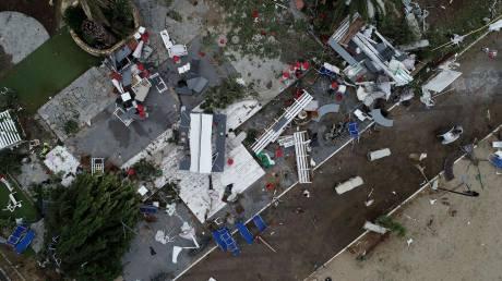 Η καταστροφή της Χαλκιδικής από ψηλά