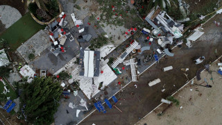 Φονική κακοκαιρία στη Χαλκιδική: Η καταστροφή από ψηλά