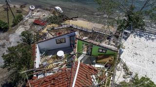 Κακοκαιρία στη Χαλκιδική: Κλιμάκιο του ΣΥΡΙΖΑ επισκέφθηκε τις πληγείσες περιοχές