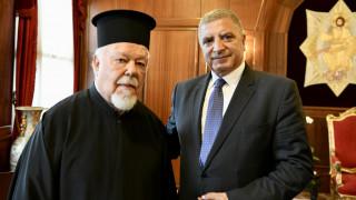 Συνάντηση του νέου Περιφερειάρχη Αττικής Γ. Πατούλη με τον Οικουμενικό Πατριάρχη Βαρθολομαίο
