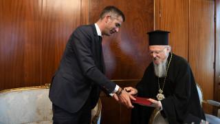 Συνάντηση Κώστα Μπακογιάννη με τον Οικουμενικό Πατριάρχη