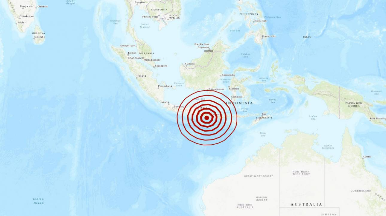 Ισχυρός σεισμός κοντά στο Μπαλί της Ινδονησίας