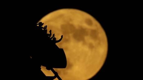 Μερική έκλειψη Σελήνης και πανσέληνος: Εντυπωσιακές φωτογραφίες από το διπλό φαινόμενο