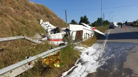 Γρεβενά: Συγκλονιστικές οι πρώτες εικόνες από την αναγκαστική προσγείωση μονοκινητήριου